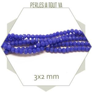 Perles donut bleu