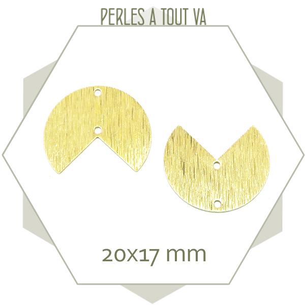 Vente connecteur style pacman pour bijoux