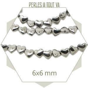 Boutique perles coeur hématite