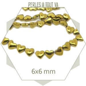boutique perles hématite forme coeur
