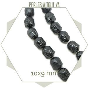 Rang de perles bouddha hématite