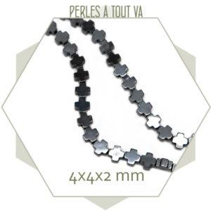 Boutique perles hématite forme de croix
