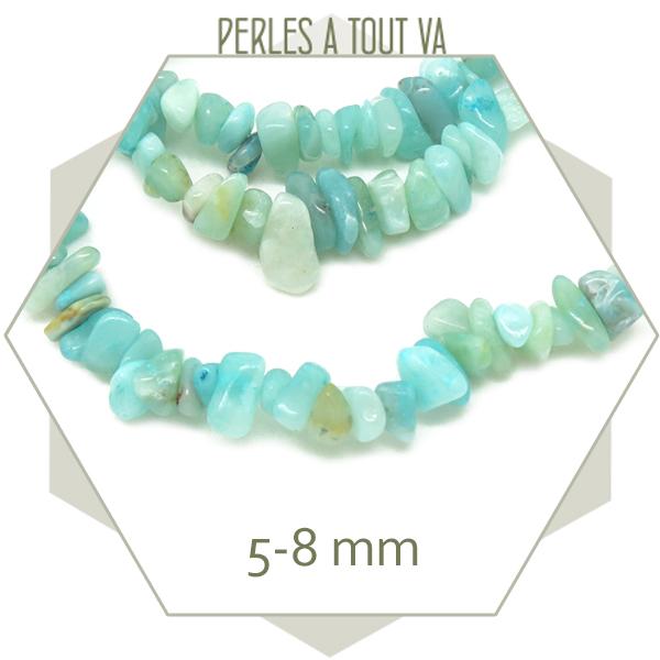 Fournisseur perles chips amazonite