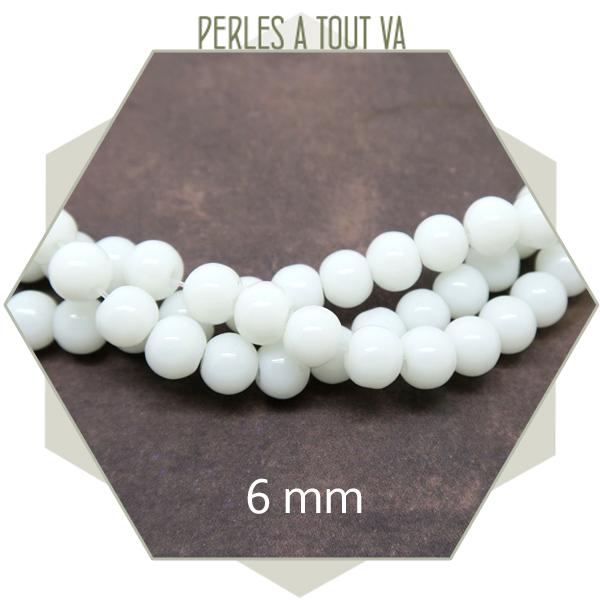 Grossiste perles verre blanche