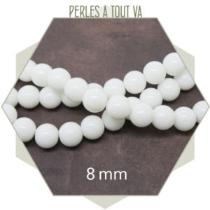 Perles verre blanche en gros