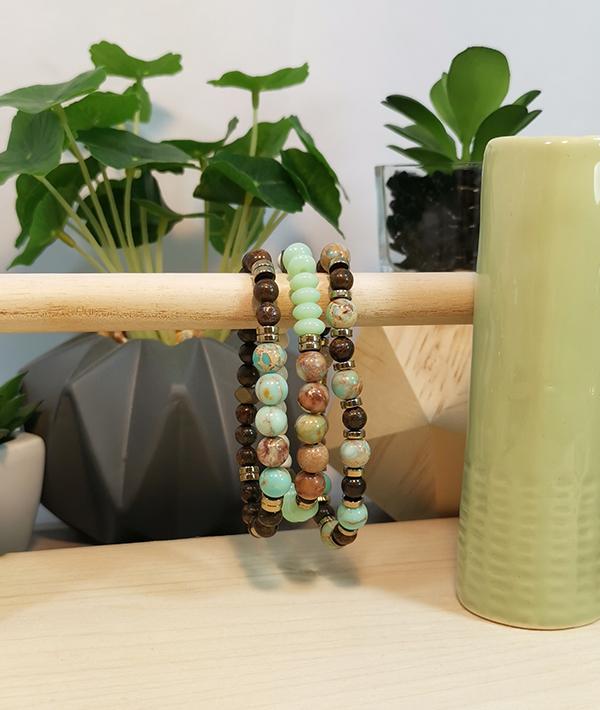 Idée création bracelet pierre naturelle