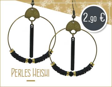 Création créoles avec des perles heishi