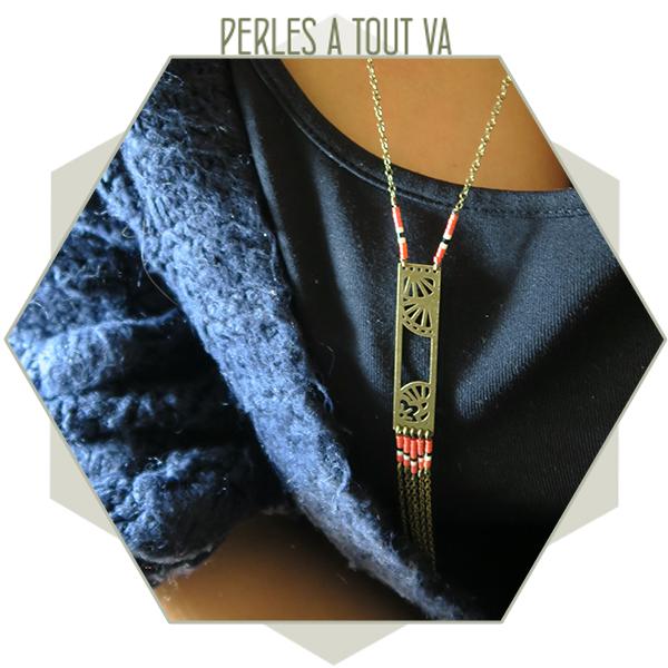 collier motif japonisant