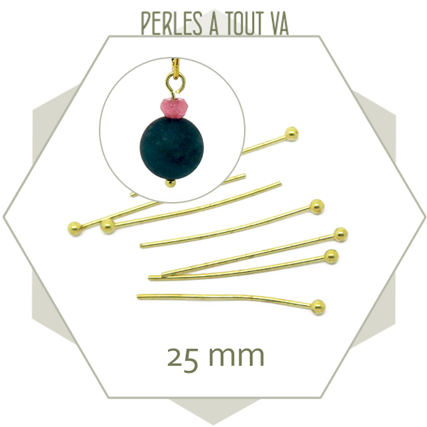 Tiges bille pour bijoux