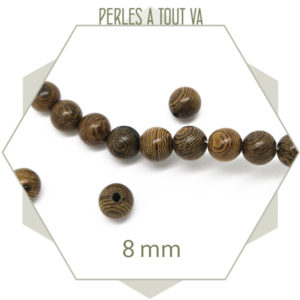 Perles bois nervurées