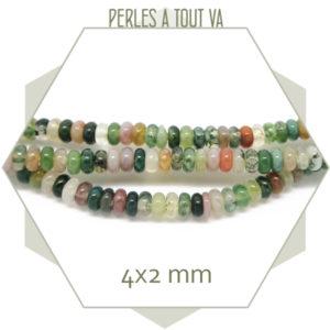 Perles rondelle agate
