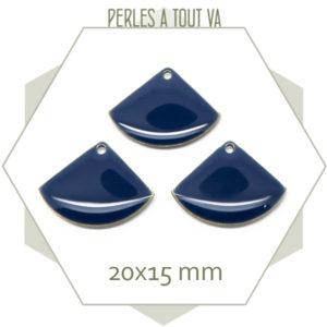 Sequins émaillés éventails bleu