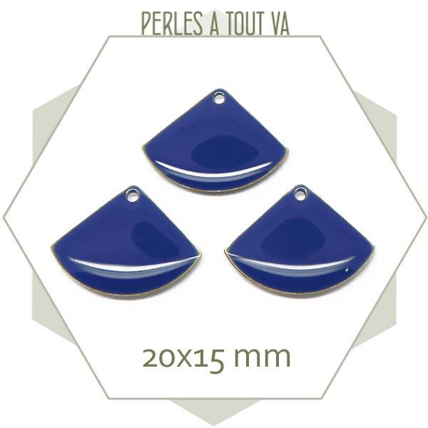 Vente sequins émaillés éventails bleu nuit
