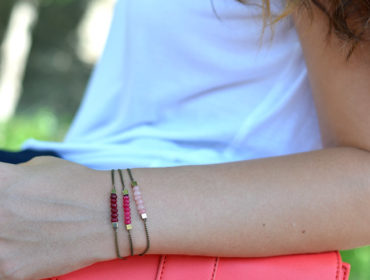 Création bracelets perles jade