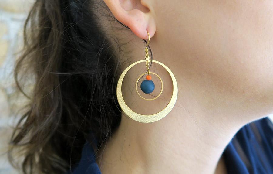 Création boucles d'oreilles créoles
