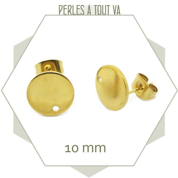 vente clou boucle d'oreilles doré