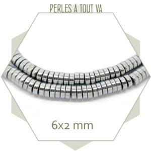 Vente perles rondelles hématite