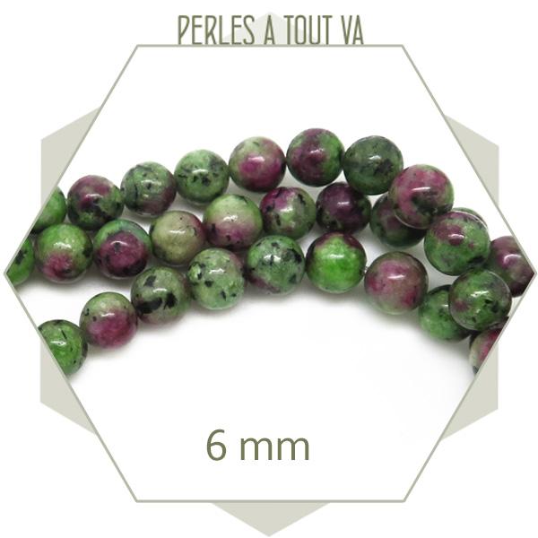 Perles pierre naturelle zoisite en gros