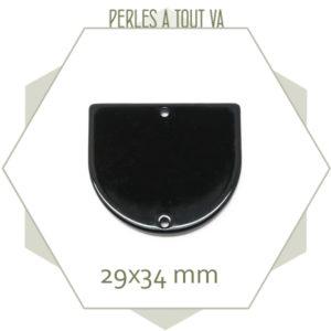 achat pendentif cellulose acetate noir