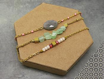 fixer perles sur chaine