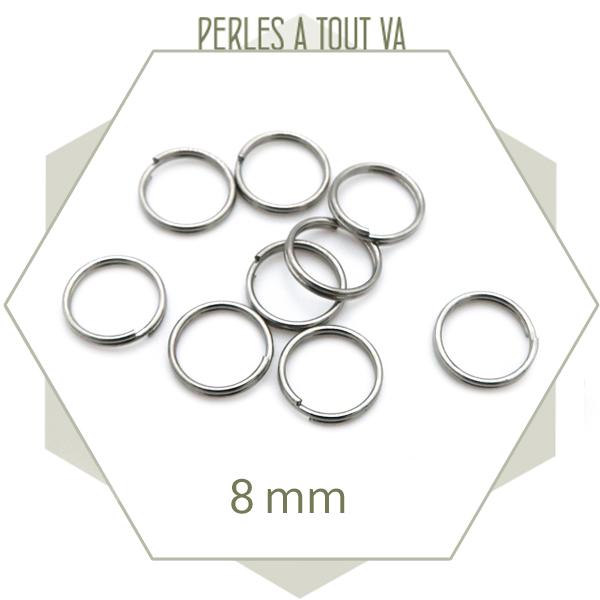 Achat anneaux doubles acier