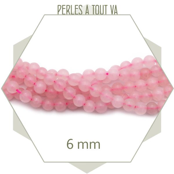 grossiste perle quartz rose