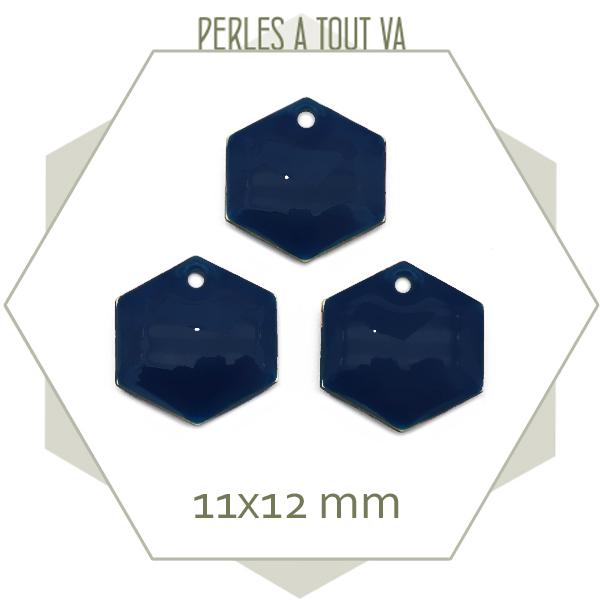 sequins hexagone en émail