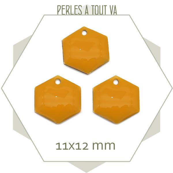 grossite sequins émaillés hexagone