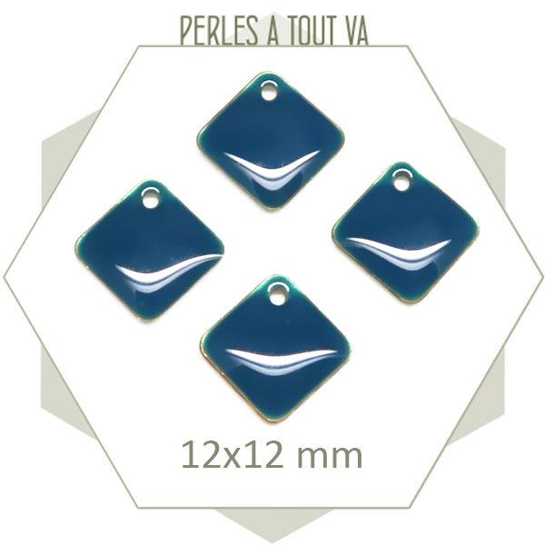 Vente sequins émaillés losange bleu