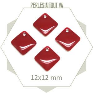 Vente sequins émaillé losange rouge