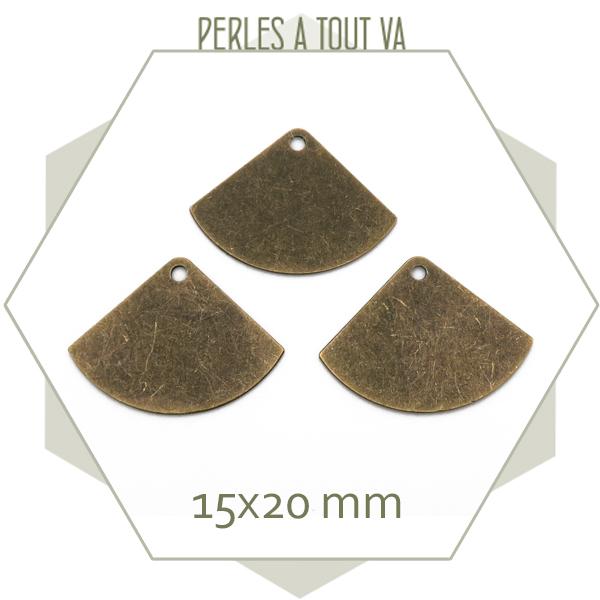 breloque eventails bronze en gros