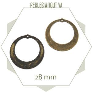 boutique breloque creoles bronze