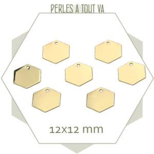 vente breloque hexagone