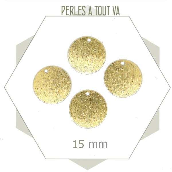 breloques rondes texturées pour bijoux