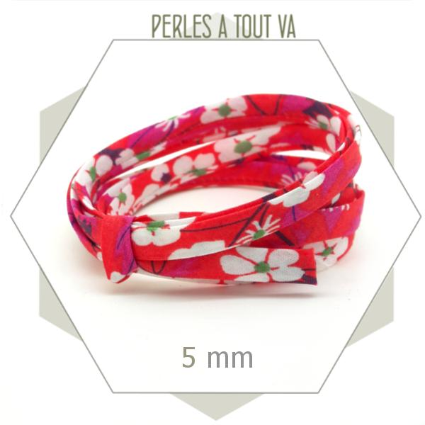 cordon tissu pour bracelt