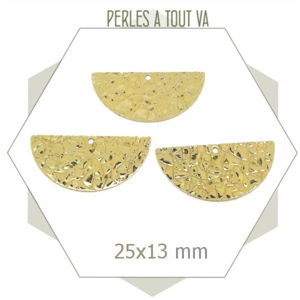 breloques dorées demi cercle pour bijoux