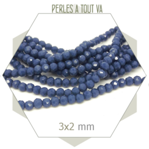 grossiste perles donut bleu