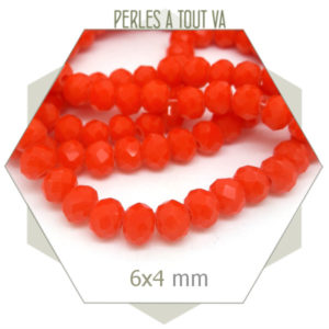 lot de perles donut orange