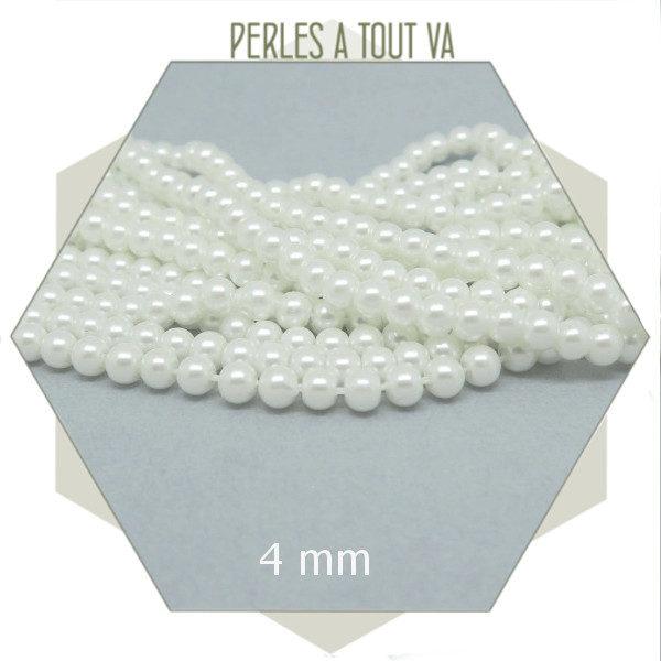 vente perles nacrées 4mm