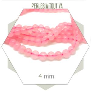 grossiste perles quartz rose