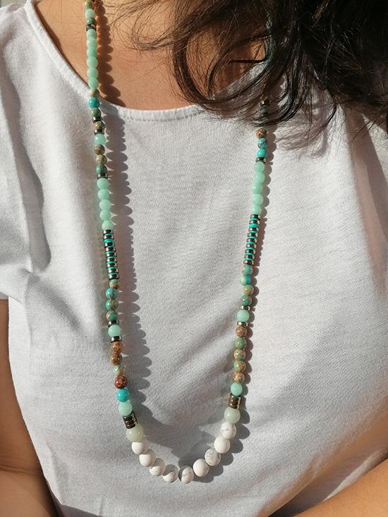 idée création sautoir perles