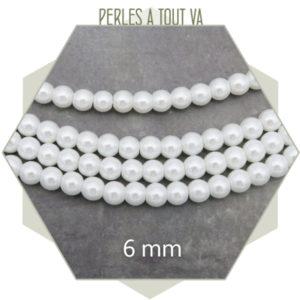perles nacres blanc