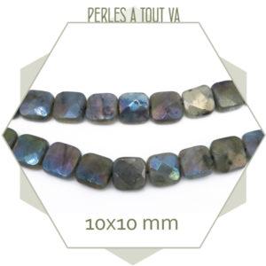 perles labradorite carré