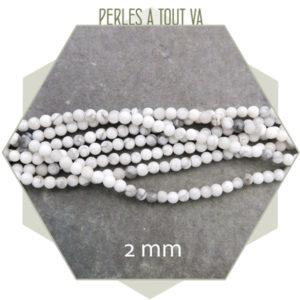 perles howlite 2mm