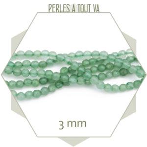 perles quartz aventurine 3mm