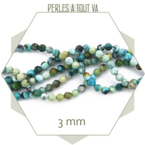 perles turquoise africaine