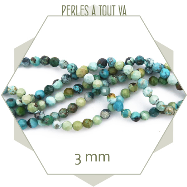 perles turquoise africaine