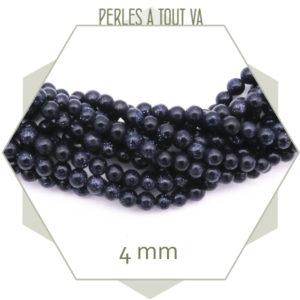 perles verre gold stone