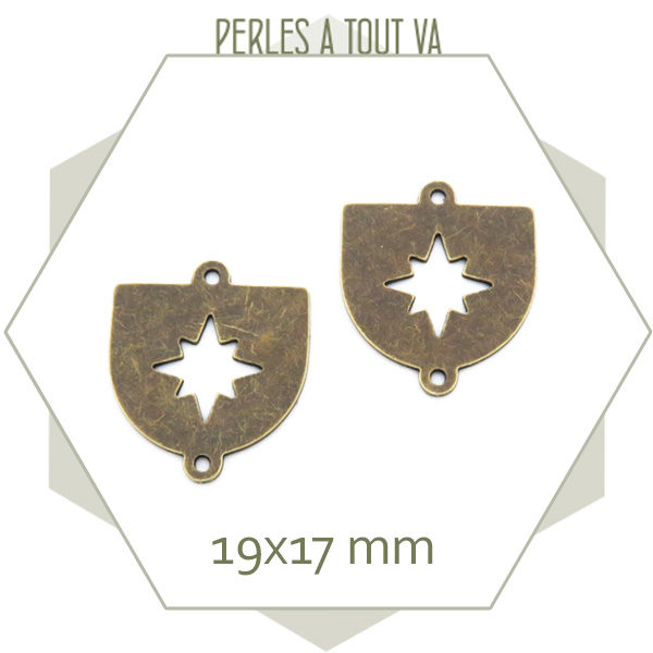 fournisseur breloque écusson bronze