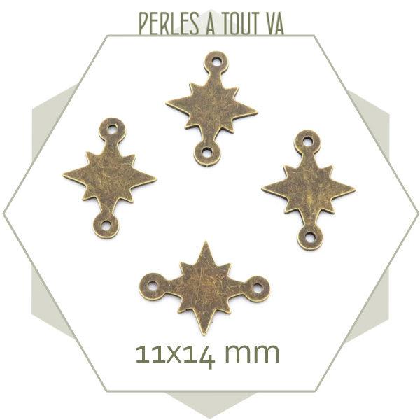 connecteurs étoile bronze